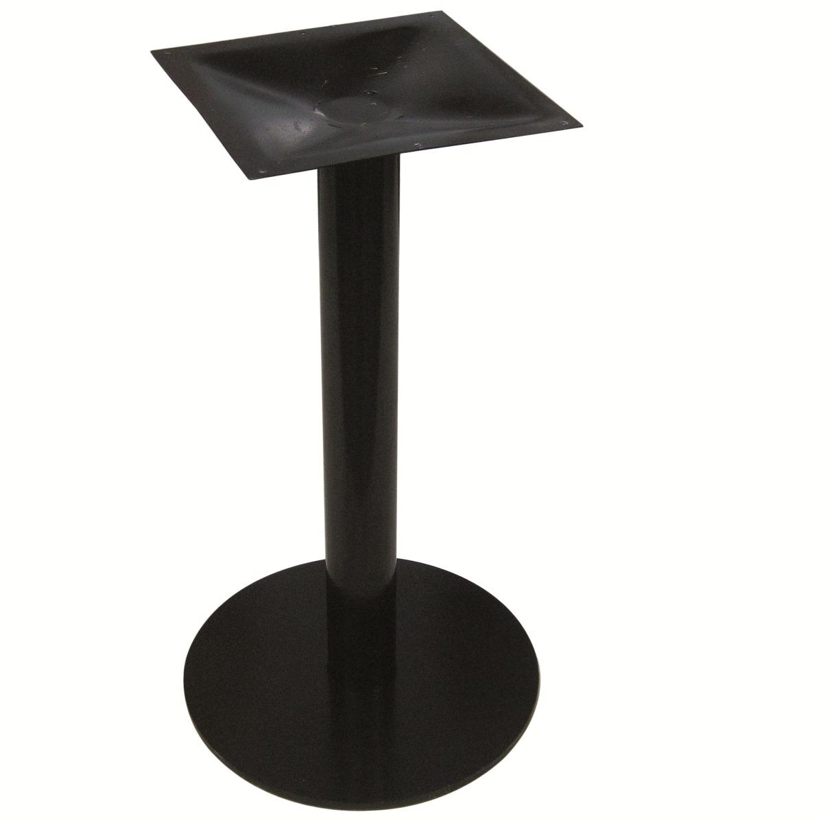 Mesa cocina pie central gauss base mesa comedor blanca for Mesas de rinconera